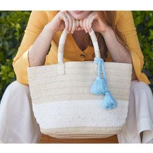 NIB Altru straw tote with tassel
